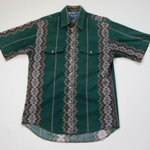 Wrangler Western Short Sleeve Button Down Shirt